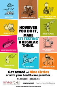 Sexual health promotion posters