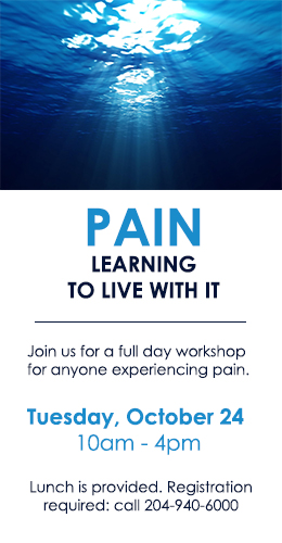Pain, Learning to Live with It Workshop. Click for details!