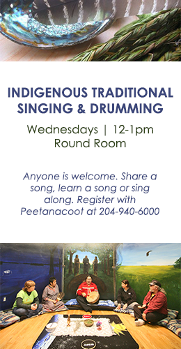 Indigenous Traditional Singing and Drumming, every Wednesday at Nine Circles