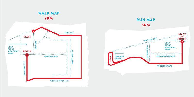Run&Walk maps