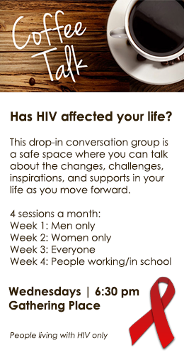 Coffee Talk, a conversation group for people living with HIV