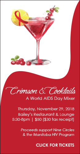 Join us for Crimson & Cocktails: A World AIDS Day Mixer
