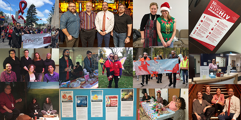 Nine Circles Collage of Staff and Events
